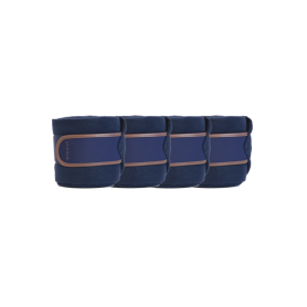 Kentucky Horsewear Fleecebandagen Leder Navy