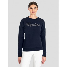 Equiline DAMEN-SWEATSHIRT E-VOLUTION HW20 Navy