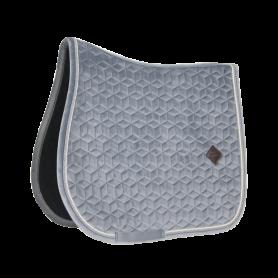 Kentucky Horsewear Schabracke Basic Velvet Grau