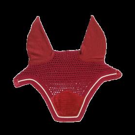 Kentucky Horsewear Fliegenmütze Wellington Velvet Rot