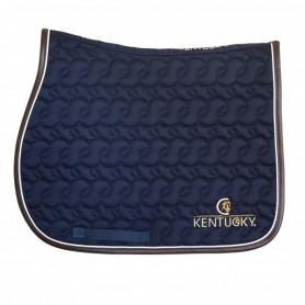 Kentucky Schabracke Lederrand Logo Navy