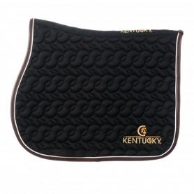 Kentucky Schabracke Lederrand Logo Schwarz