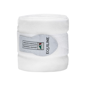 Equiline Fleecebandagen POLO Weiß