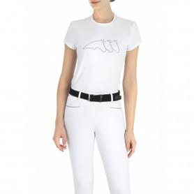 Equiline Damen T-Shirt GLENG Weiß