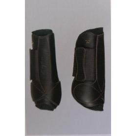 Dyon Ledergamaschen mit Neopren Front Schwarz