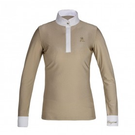 Kingsland Macey langärmliges Turniershirt - Gold Pale