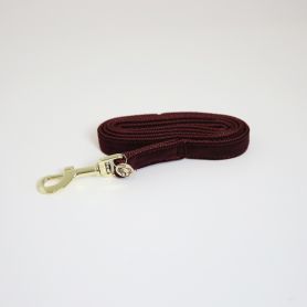 Kentucky Hundeleine Corduroy 120cm - Bordeaux