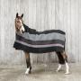 Kentucky Horsewear Heavy Fleece Rug Stripe - Schwarz/Grau