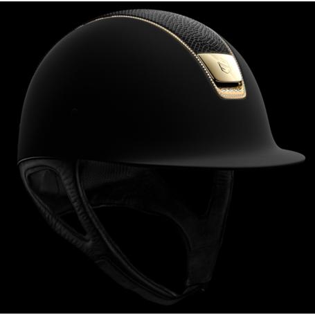 Samshield Helm Shadowmatt Schwarz-Gold mit Swarovski Steinen
