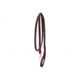 Kentucky Horsewear Hundeleine Nylon Plaited Bordeaux