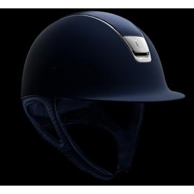 Samshield Helm Shadowmatt Blau mit Ledertop