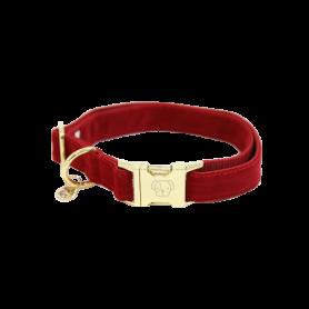 Kentucky Horsewear Hundehalsband Corduroy Rot