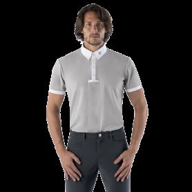 Ego7 Turniershirt Polo Kurzarm Grau