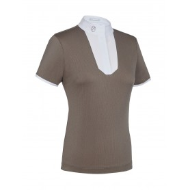 Samshield Turniershirt Apolline Full Stripes Taupe-Gold FS20