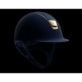 Samshield Helm Shadowmatt Blau-Gold mit Shield Swarovski