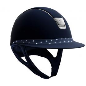 Samshield Helm Miss Shield Shadowmatt Blau mit Fancy Swarovski Holographic