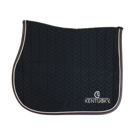 Kentucky Horsewear Schabracke Leather Fishbone Schwarz