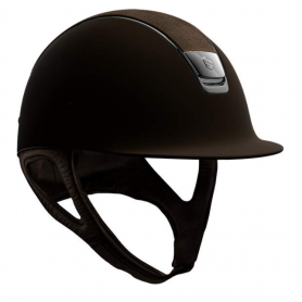 Samshield Helm Shadowmatt Braun mit Swarovski Shield