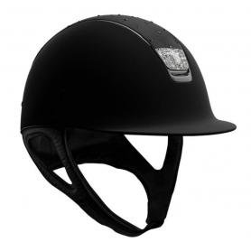 Samshield Helm Shadowmatt Schwarz mit Crystal Comet Light und Crystal Fabric Blazon