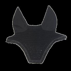 Kentucky Horsewear Fliegenhaube Wellington Glitter Stone Soundless Schwarz