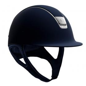 Samshield Helm Shadowmatt Blau mit 5 Swarovskisteinen