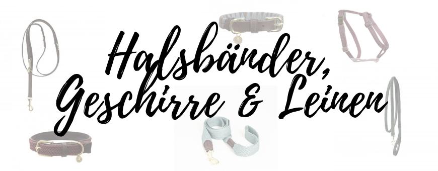 Halsbänder, Geschirre & Leinen